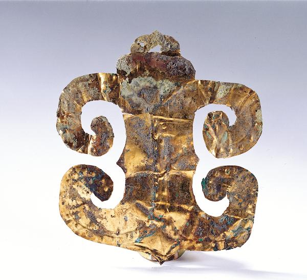 商周蛙形金箔 晚商至西周 一级文物现藏于成都金沙遗址博物馆