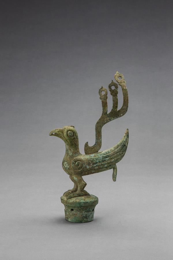 铜鸟 商 一级文物1986年出土 现藏于四川广汉三星堆博物馆